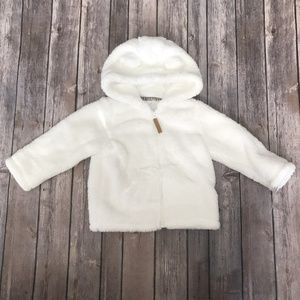 Carters Bear Fluffy Hooded Coat Baby 24 Months NWT